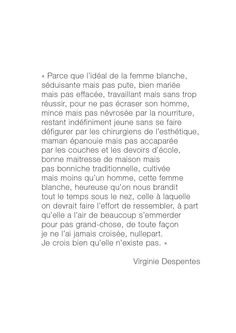 Citation de Virginie Despentes