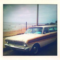 Malibu, CA - PCH surf car