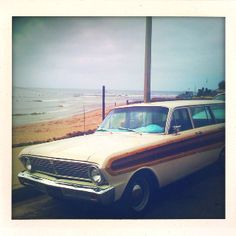 Malibu, CA - PCH surf car