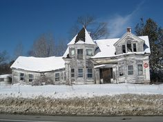 Abandoned Maine buildings. I bet it was really beautiful at one time.