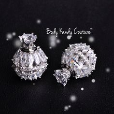 Couture Crystal Double Ball Studs