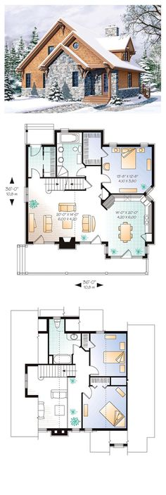 Craftsman House Plan 65246 | Total Living Area: 1625 sq. ft., 3 bedrooms 2 bathrooms. The cozy comfort of this home, especially at this time of the year, offers warmth and takes advantage of the limited light through the many large windows. #houseplans #craftsmanstyle