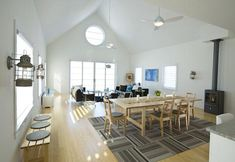 open living room/kitchen space, cottage in Minnesota