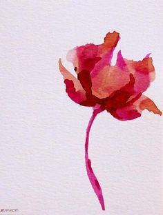 Love this watercolor Poppy. Would love a huge painting of this simple yet bold flower