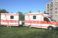 RTW mit Anhänger SEG Rettung