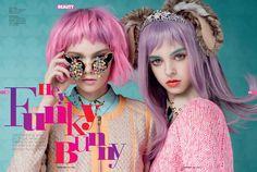 Funky Bunny - Cosmo Girl by Martin Sweers, via Behance