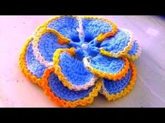 VEJA COMO FAZER CROCHÊ,,PASSO A PASSO FLOR EM CROCHÊ COM CRISTINA COELHO ALVES - YouTube Crochet Flower Tutorial, Easy Crochet Patterns, Crochet Designs, Crochet Flowers, Flower Patterns, Irish Crochet, Crochet Shawl, Knit Crochet, Crochet Embellishments
