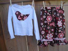 Girls Toddler outfit - Girls Ruffle pant set