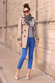Blue Jeans and stripes