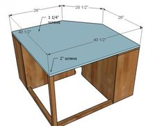 Ana White   Build a Corner Unit for the Twin Storage Bed   Free and Easy DIY Project and Furniture Plans