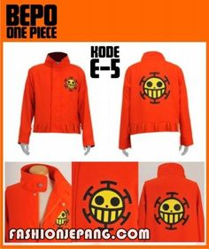 Jaket Anime Onepiece Bepo, material Fleece best quality