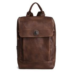 ROCKCOW High Quality England Vintage Style Genuine Leather Men Backpacks For College School Backpacks For...