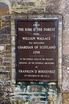 """This is on a wall of the cemetery at """"The Kirk O' the Forest"""" in Selkirk, Scotland pronouncing William Wallace """"Braveheart"""" the Guardian of Scotland in Scottish Quotes, Scottish Gaelic, Scotland History, William Wallace, Scotland Castles, Braveheart, England And Scotland, Scotland Travel, British Isles"""
