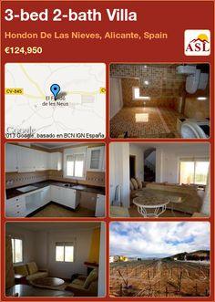 3-bed 2-bath Villa in Hondon De Las Nieves, Alicante, Spain ►€124,950 #PropertyForSaleInSpain