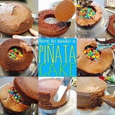 Pinata Cake with M&Ms Recipe & Tutorial easier than it looks!.