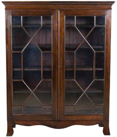 Late Victorian Mahogany Antique Bookcase with Glass Doors. I remember my grandparents had one of these with Ellery Queen and Agatha Christie books in them.