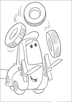 Dibujos para Colorear Cars 34