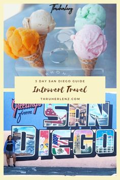 Are you an introvert and still want to travel? Maybe you have more ambivert personality traits. I'm here to show you that you how to spend 3 days in San Diego California! There's so much you can do! Chase sunsets and La Jolla beach! Repin and read the 3-day guide to San Diego! #california #sandiego