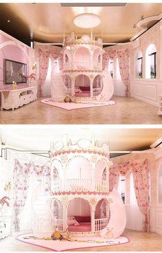 Chambre Princesse Fille Enfants de Diapositives Lit, belle Unique Rose Château Lit Filles Meubles - #belle #chambre #Château #de #Diapositives #Enfants #Fille #Filles #Lit #Meubles #Princesse #Rose #Unique