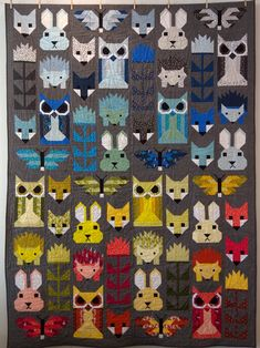 Fancy Forest Quilt Kit - Finished Size 67 x 91 Includes Binding