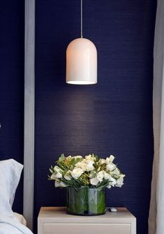Love this pendant lamp and the sisal wallpaper! The top 12 looks from The Block: Triple Threat, via We-Are-Scout.com.