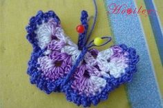 Visual narratives made with crochet-work butterfly