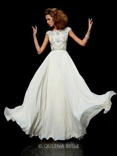 Ball Gown Chiffon High Neck Short Sleeves Beading Floor-Length Dresses  Chiffon Beading 561cdaeead84
