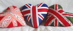 Almofada Coração - Love Love (Bandeira Inglaterra)