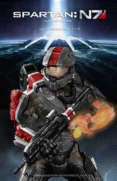 mass effect fan art   Mass Effect/Halo Fan Art Mash-up: Spartan N7 by ~rs2studios on ...