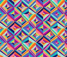 Hybrid - Colorful Geometric fabric by mjmstudio on Spoonflower - custom fabric