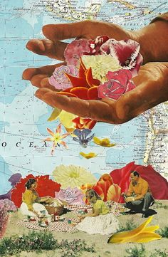 Caroline Alkire Huge flicker board of examples of surrealistic magazine collage.