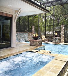 Indoor pool with skylights so awesome dream home - Swimming pool supply stores near me ...