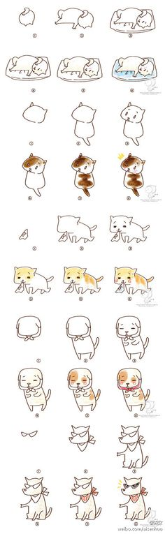 How to Doodle | How to draw cute cartoons | Tutoriales. De gran cuento de hadas ... _ pequeña xuan compartir fotos - Sugar heap