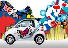 Smart CAR with Romero Britto Art<3<3<3