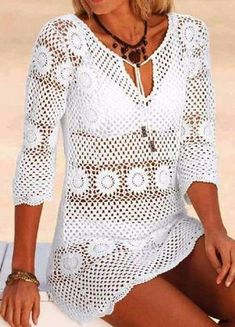 Free step-by-step crochet blouse - Crochet Pattern Yarns
