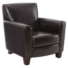 Threshold™ Nolan Bonded Leather Living Room Club/Accent Chair - Espresso
