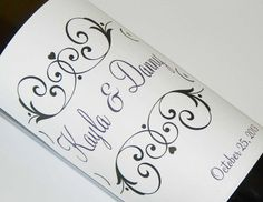 Set of 20  PERSONALIZED WINE LABEL  Elegance  by WineDivaDesigns, $25.00
