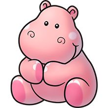 Pink hippo