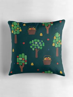 fruit trees pillow