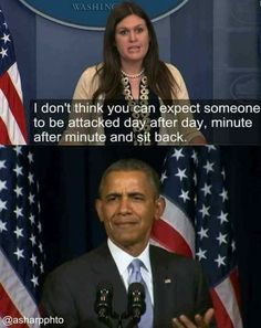 I completely agree with her statement.  Yet it also reflects the strength and dignity of Obama.  He carried himself with such dignity and was attacked so often when not at fault.  Some other people are actually at fault and now they are in the kitchen in the heat.  Nevertheless, I feel sympathy for that one too.  Kudos to Obama.  I just wish people in the world would do right by others.  Look out for others.  Love people more and do the right thing.