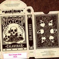 Calaveras Day of the Dead Art Bicycle Playing Cards | Cool Material
