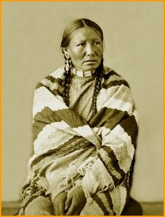 White Hawk lost her husband Big Foot at the Massacre of Wounded Knee, 1890. This beautiful photo of her was taken in 1872.