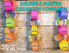 Learn how to build strong classroom community among your students. These ideas will get students working together in new ways. School Classroom, Classroom Activities, Classroom Organization, Classroom Management, Behavior Management, Classroom Ideas, Classroom Projects, Classroom Behavior, Classroom Setting