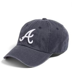 Women's American Needle 'New Raglan - Atlanta Braves' Baseball Cap (£21) ❤ liked…
