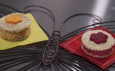 Sanduíche integral com recheio colorido - Com pasta de cenoura ou beterraba, o lanche saudável tem forma de flor