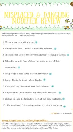 Dangling participle by omgitsyourface on deviantart grammar wizer blended worksheet misplaced ccuart Gallery