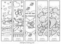 free printable valentine bookmarks to color - Free Printable Pictures To Colour