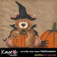 Scruffy Tear Bear - Halloween