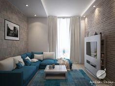 Living Pequeños, Living Room Modern, Home Living Room, Interior Design Living Room, Living Room Designs, Living Room Decor, Lounge Design, Small Room Bedroom, Apartment Design