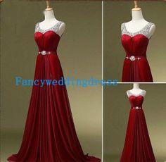 Red aline Riemen ärmellose Schärpe von Fancyweddingdresses auf Etsy, $128.99